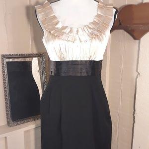 Black & gold dress by London times size 6